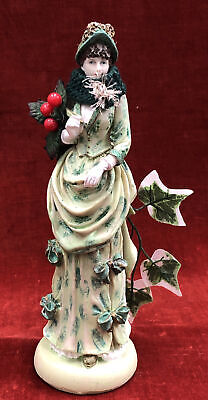 Pottery Christmas Figure THE IVY LADY 24cm Tall • 10.99£