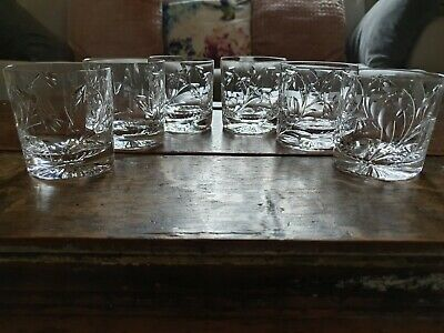 A Rare Set Of 6 Stuart Crystal Concerto Whiskey Glasses • 190£