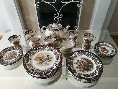 Royal Worcester Palissy Game Series Classic Antique Set • 125£