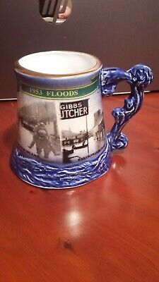 The 50th Anniversary Tankard Of The East Coast Floods Great Yarmouth Potteries • 15£