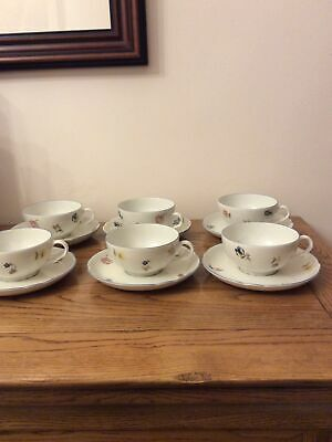 Seltmann Weidan Bavaria Cups And Saucers X 6 Marie-Luise Sea Of Flowers Pattern • 8£