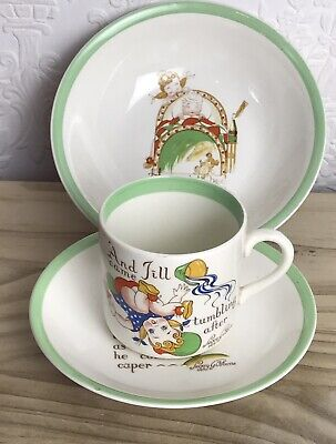 Three Pieces Peggy Gibbons Midwinter Nursery Rhyme Porcelain Vintage • 20£