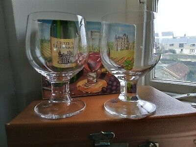 Dartington Glass Boxed  Pair Of Compleat Imbiber Burgundy Goblets FT 151/5 • 40£
