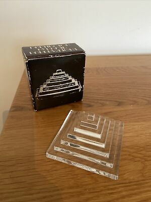 Dartington Glass Pyramid Paperweight FT247 In Box Designed By Frank Thrower • 24.99£