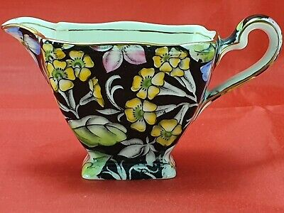 Vintage Chintz Royal Winton-grimwades Spring Glory (black) Small Square Creamer • 17.99£
