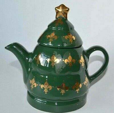 Wade Christmas Teapot In Green (27) • 10£