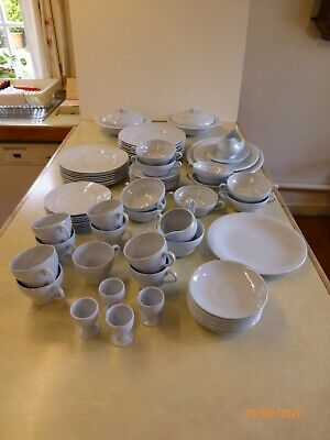 Vintage 'BOOTHS LTD' BLUE MIST Tea And Dinner Service • 31£