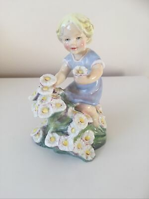 ROYAL WORCESTER Doughty Figurine - Months Of The Year May Child With Flowers Ret • 44.95£