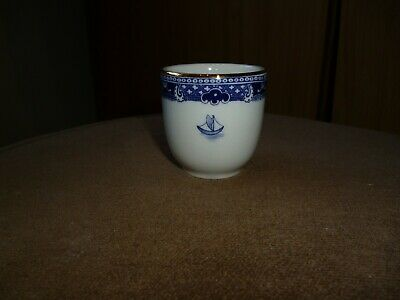 Ringtons By Wade Small Egg Cup With Blue & White Pattern & Gilded Rim • 2.50£