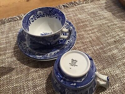 Spode Blue Room Cups And Saucers • 5.50£