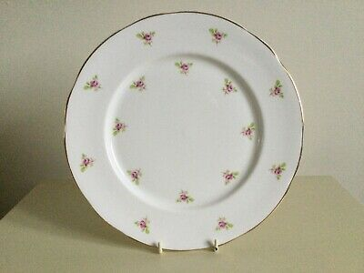 Fenton Fine Bone China Vintage Rosebud Dinner Plate • 5£
