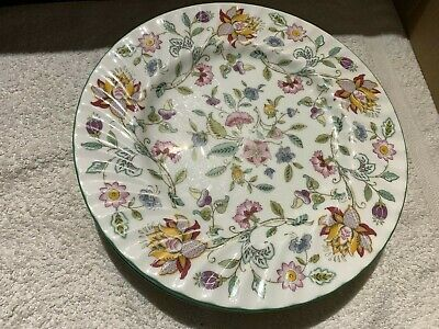 6 Minton Haddon Hall Dinner Plates With The Green Rim • 82£