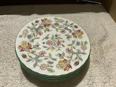 6 Minton Haddon Hall Side Plates With The Green Rim • 26£