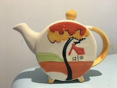 Past Times - Clarice Cliff  Trees & House  Style Small Teapot • 17£