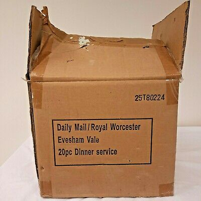 Daily Mail Royal Worcester Evesham Vale 20 Piece Dinner Service In Original Box • 60£