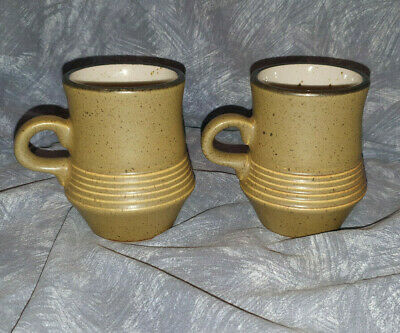 Purbeck Pottery — Studland —  Coffee Mugs  — 2 — Green —  —yp • 32.50£