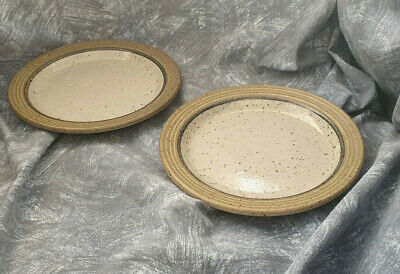 PURBECK POTTERY — STUDLAND — BREAD PLATE — SIDE PLATE — 7  18 Cm  — 2 — GREEN YW • 12.50£