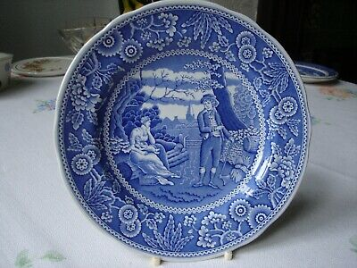 Spode Blue Room Collection Plate. Woodman. 19cms. • 7£