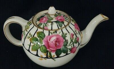Vintage Aynsley Cabbage Pink Roses & Trellis  Teapot - 1 Pint • 39.99£