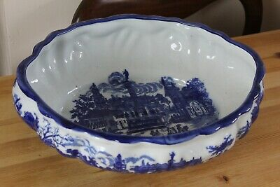 Victoria Ware Ironstone Blue And White Transferware Very Large Oval Bowl • 29.99£
