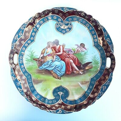 Antique Royal Vienna Hand Painted Porcelain Cabinet Plate Love Scene With Cupid  • 990£