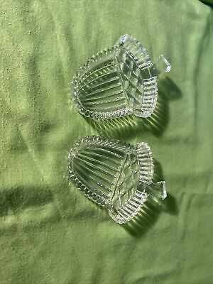 Pair Of Vintage Pressed Glass Acorn Shaped Pin Or Trinket Dishes #118 • 7.50£