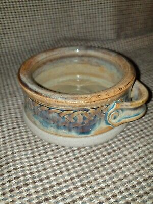 Rare Celtic Clays Candle Holder , Dish .  Made In Carlingford , Ireland. VGC. • 8£