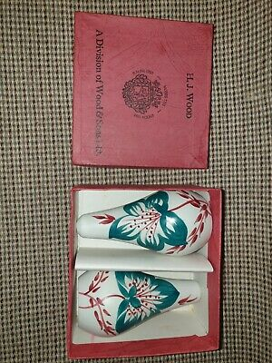 Vintage  H J Wood Salt And Pepper Set With Original Stoppers And Box. Rare . • 10£