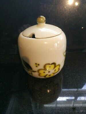 E Radford Condiment , Jam Pot With Lid . Hand Painted . 837 • 7£