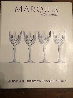 Marquis Waterford Wine Goblets X4 Set • 14.90£
