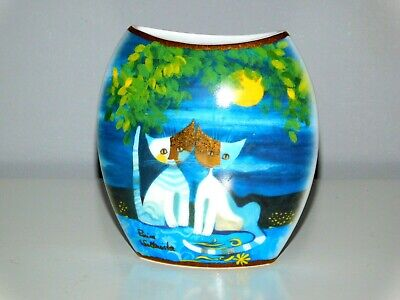 Small Vintage Geobel Cat Vase By Rosina Wachtmeister  Friends Under The Moon  • 35£
