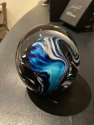 A Peter Layton Glacier Art Studio Glass Paperweight  • 110£