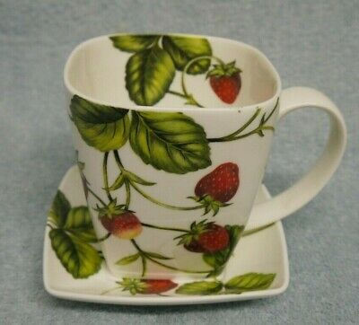 Crown Trent China Strawberry Fields Mug And Saucer  • 12£