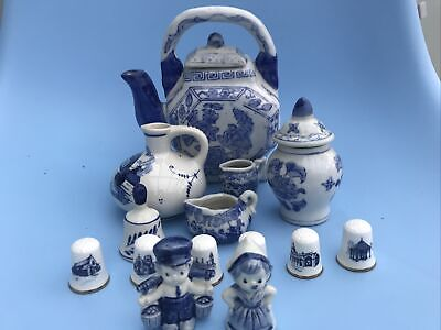 Random Collection Of Blue And White Ceramics Various Makes  • 5.99£