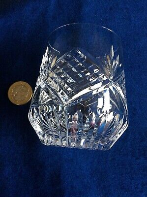 Vintage Tyrone Irish Crystal Whisky Glass Flat Bottomed  Slieve Donard Stamped  • 18£
