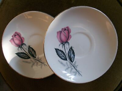 Two Vintage Swinnertons Saucers, Made In Staffordshire • 6£