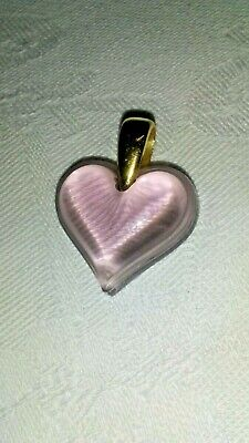 LALIQUE LILAC  SMALL HEART On GOLD Loop - NEW • 45£