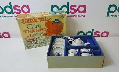 Vintage Little Miss China Tea Set Boxed Nursery Children's Mr Men 1982 - H756 • 9.99£