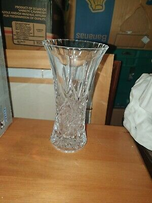 Vintage Crystal Glass Trumpet Vase Beautiful Decorative Interesting Unusual Gift • 5£