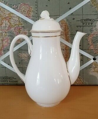 Vintage Royal Worcester Contessa Tall Coffee Pot. White • 8.88£