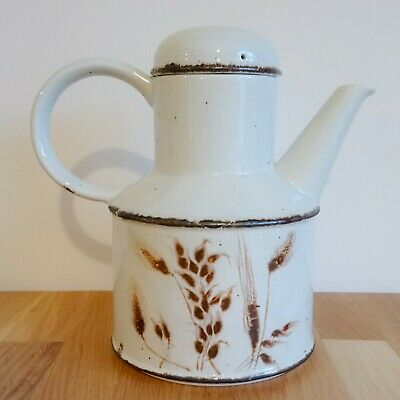 Vintage Midwinter Stonehenge Wild Oats Large Teapot / Coffee Pot - Holds 1L • 7£