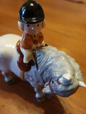 Beswick Norman Thelwell Learner Rider Pony Figure  1981. • 50£