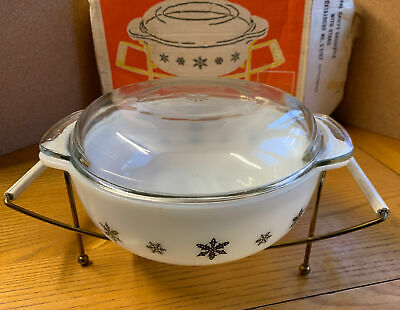 Pyrex Opal Gaiety Casserole With Stand - With Original Box • 4.99£