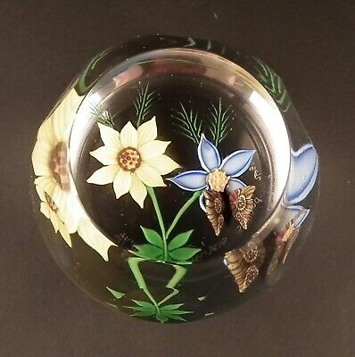 Vintage Caithness Limited Edition 'flutter By' Glass Paperweight - 76 Of 250  • 54£