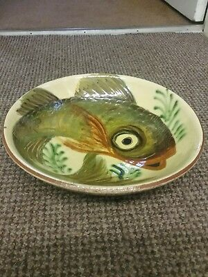 Vintage Antique Fish Charger, Bowl. Fishing ? • 39.99£