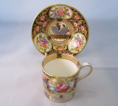 Crown Staffordshire Semi-Demi Coffee Can And Saucer C.1895 • 45£
