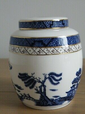 BOOTHS Vintage  Real Old Willow  China Ginger Jar • 13.50£