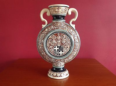 Rare Westerwald Germany, Simon Peter Gerz Vase, Circa 1890-1919, Immaculate • 60£