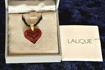 Lalique Red Heart Necklace, Boxed  Valentines !! • 21£