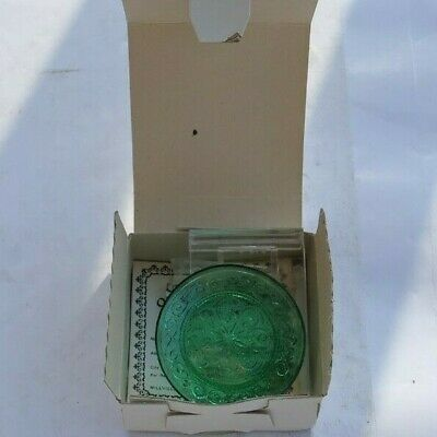 RARE Vintage 2  Pairpoint Glass Mini Cup Plate Millville Art Glass & Tag Box NR  • 2.19£